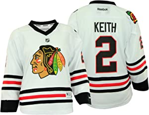 NHL Chicago Blackhawks Youth Girls Duncan Keith #2 Replica Jersey, White