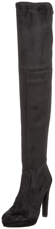 Schwarz(schwarz 01) Buffalo Damen 2863 Micro Strech Stiefel