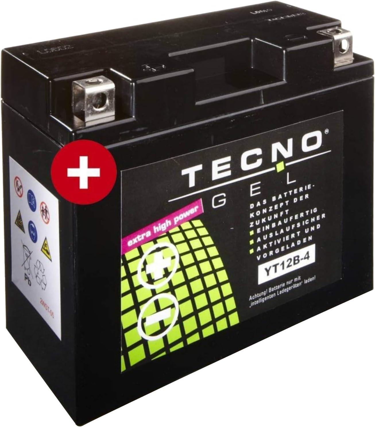Tecno YT12B-4 Gel Batterie XVS 650 AH Drag Star Classic 1998-2007