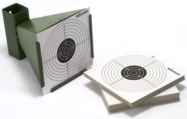 Woodside Kugelfangkasten f/ür Zielscheiben beim Luftgewehrschie/ßen 14 cm