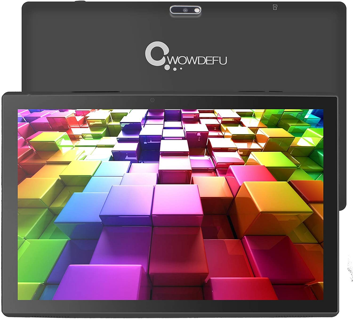 Android Tablet 10.1 inch 32GB Storage 2GB RAM, Android 10.0 WiFi Tablets Voice Control with Google Assistant, Dual Speakers, 1280x800 IPS HD Display, Dual Camera, Black