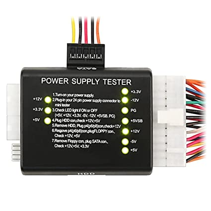 Amazon.com: Insten 20/24-pin Power Supply Tester for ATX/SATA / HDD ...