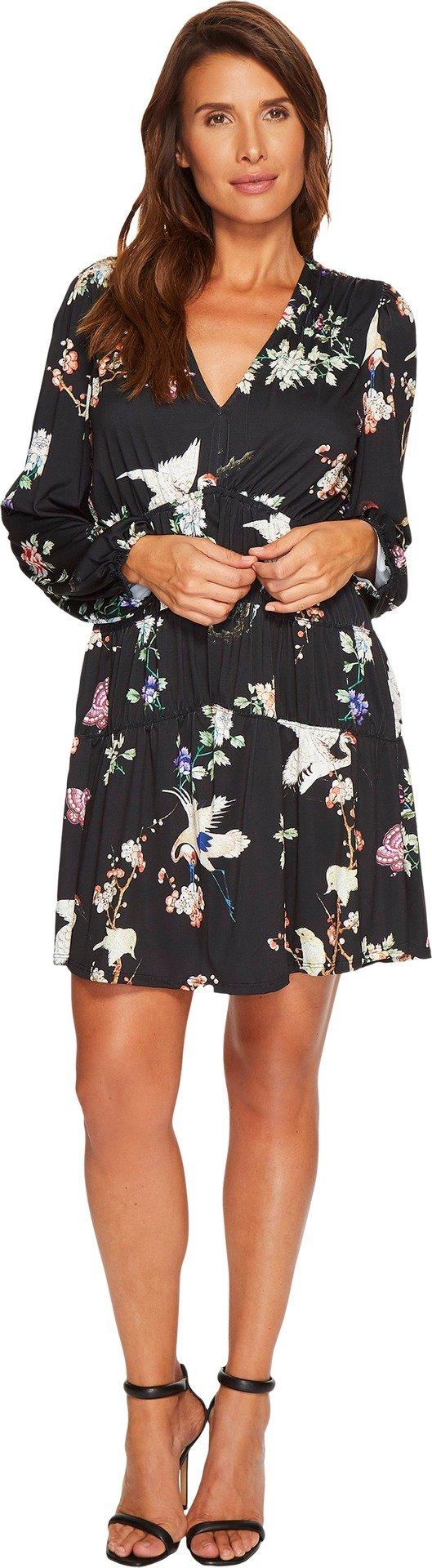Hale Bob Women's Natural Charm Fine Microfiber Jersey Dress Black Large