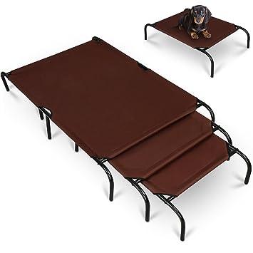 Leopet – Hamaca cama para perros apta para interiores y exteriores en color marrón oscuro –