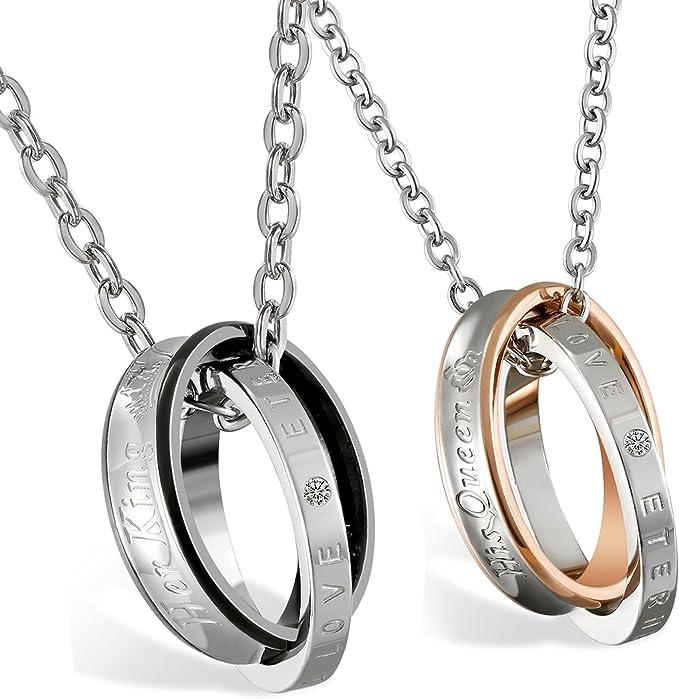 ejemplo de juego de collares y anillos de pareja