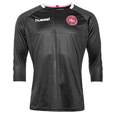 13bee5f53 Hummel Denmark 16 17 Goalkeepers Replica Football Shirt - Black - Size XL   Amazon.co.uk  Clothing