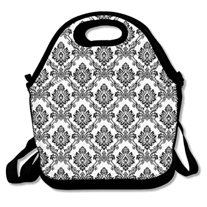 0fc562fb0862 Most Fashion Maker Damask Antique Classical Damask Flowers Pattern  Traditional Artwork 49 Lunch Bags Insulated Travel