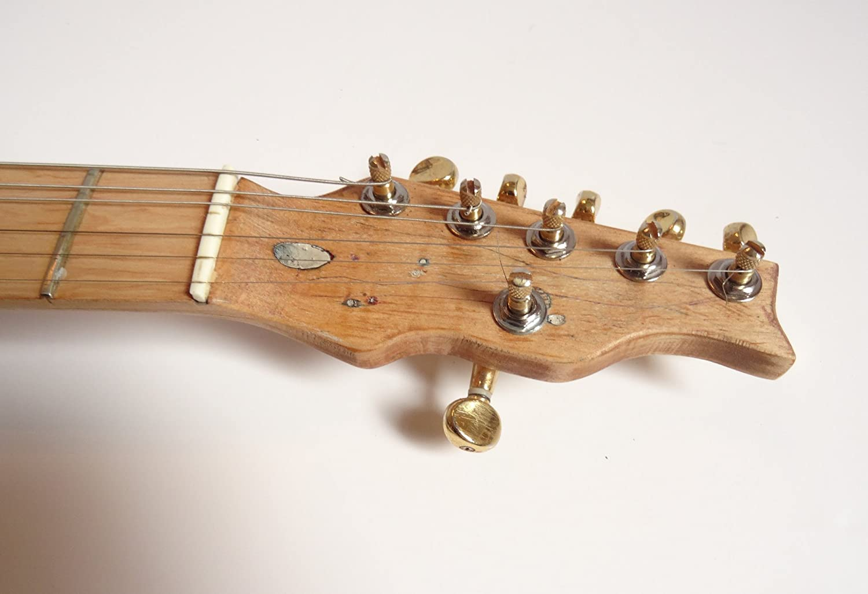 Oro de Telecaster guitarra estilo, madera de caoba - Luthier personalizado diseñado: Amazon.es: Instrumentos musicales