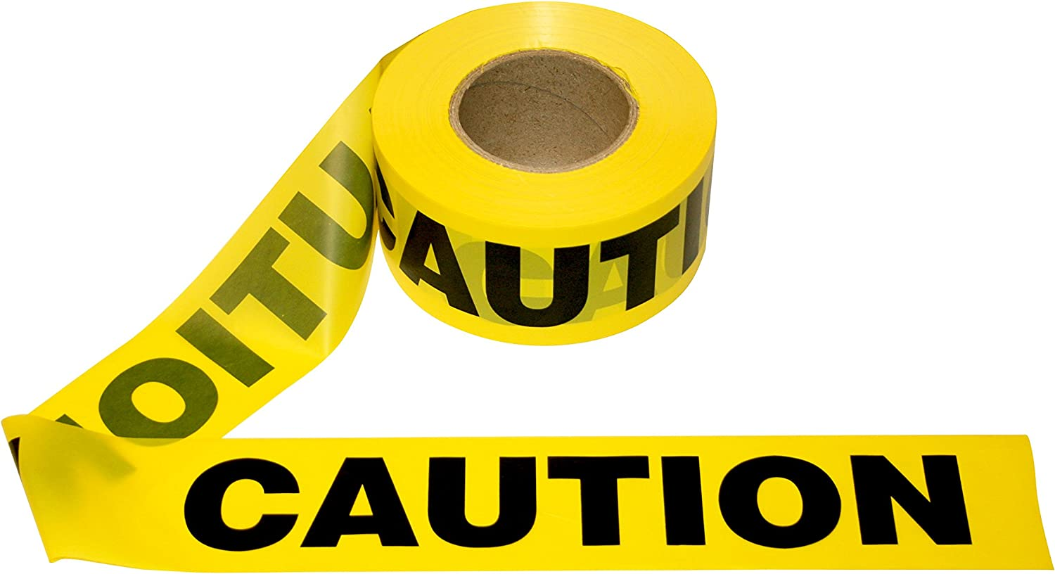 """Cordova Safety Products Pro Pack Caution Barricade Tape - Set of 12 Rolls - Each Roll Measures 3"""" x 1000' - Yellow (T15101)"""