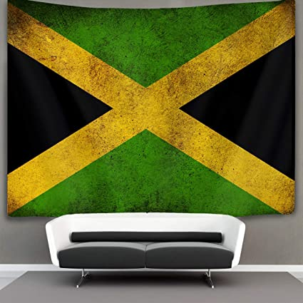 Amazon Com Us Tang Vintage Jamaican Flag Wall Tapestry Hippie Art