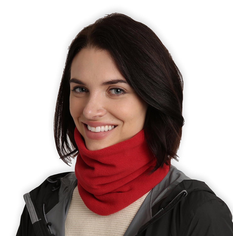 Tough Headwear Fleece Neck Warmer - Neck Gaiter Tube, Ear Warmer Headband & Face Mask. Ultimate Thermal Retention, Versatility & Style. Constructed with Super Soft Fleece & Microfiber