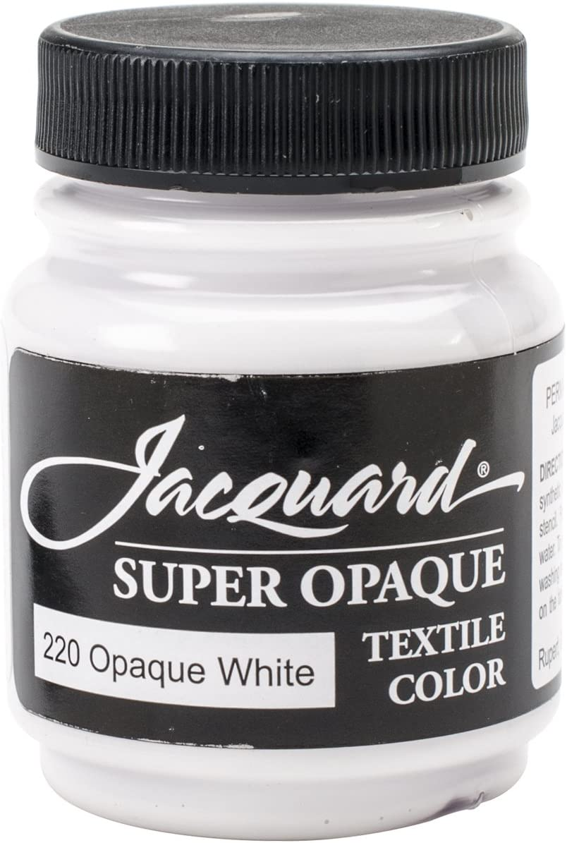 Jacquard Products Textile Color Fabric Paint 2.25-Ounce, Super Opaque White