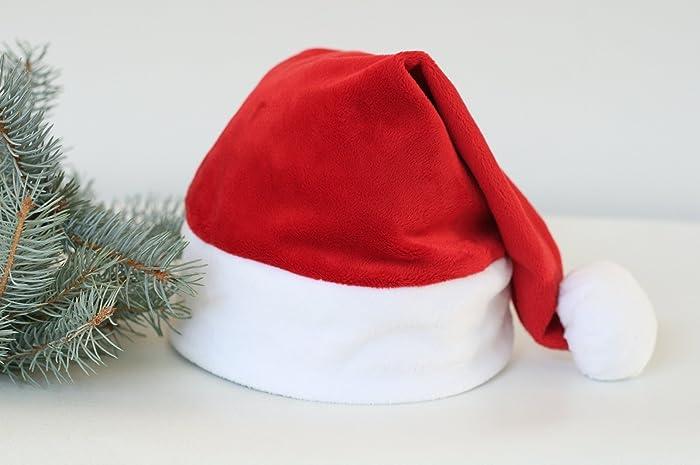 b2ec3c88031ff Amazon.com  Traditional Christmas Santa Hat