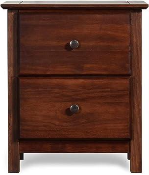 Amazon Com Grain Wood Furniture Shaker 2 Drawer Cherry Solid Wood Nightstand Furniture Decor