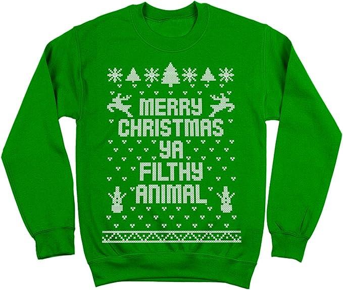 MERRY CHRISTMAS YA FILTHY ANIMAL SWEATER JUMPER MEN WOMEN XMAS FUNNY SWEATSHIRT