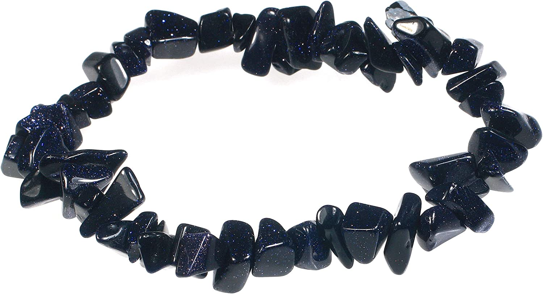 Blue Goldstone Macrame Crystal Necklace