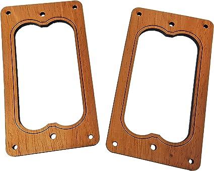 2pc Genuine Mahogany Laser-cut Full-Size Humbucker Pickup Cover Rings Style 2