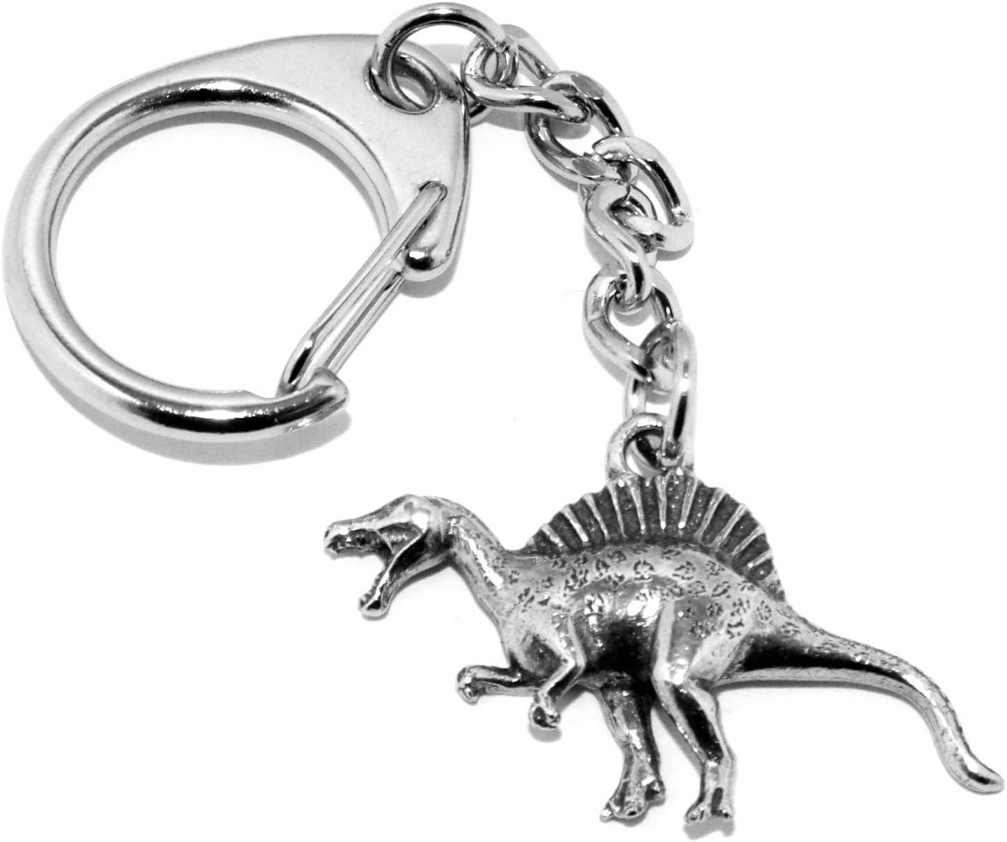 Spine Lizard/ /Spinosaure Dinosaure en /étain Porte-cl/és livr/é dans une pochette cadeau