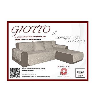 Sofá Giotto salvadivano con chaise longue acolchado Tinto de ...
