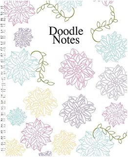 """product image for House of Doolittle Notebook, Whimsical Doodle Color, 7 x 9"""" (HOD78097), Color Flowers"""