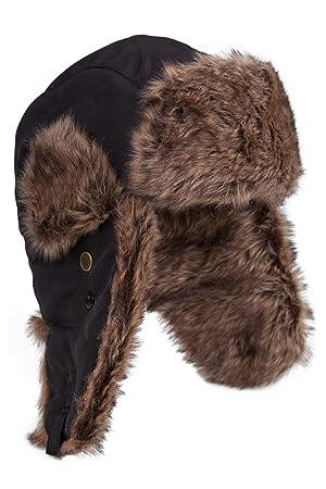 Mountain Warehouse Sombrero Unisex peludo - Forro acolchado de piel  sintética para mayor calidez con la 5fc7255cf68