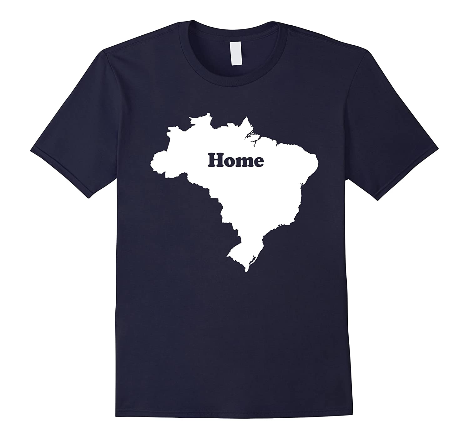 Brazil Home Map Outline Shape Funny T-Shirt-CD