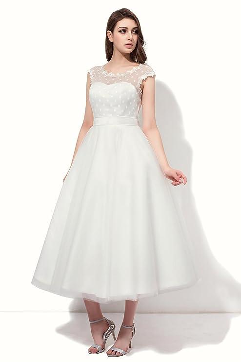 FNKSCRAFT® Brautkleid Hochzeitskleid Brautjungfer Kleider Hochzeit ...