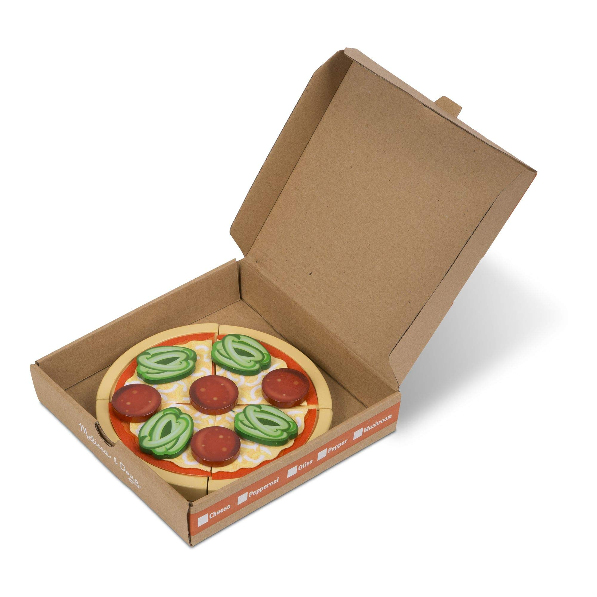 Melissa & Doug Top and Bake Wooden Pizza Counter Play Food Set (Pretend Play, Helps Support Cognitive Development, 34 Pieces, 7.75'' H x 9.25'' W x 13.25'' L) by Melissa & Doug (Image #3)