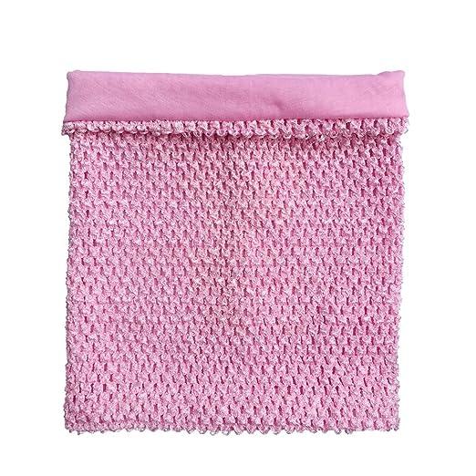 Amazoncom 12inch Baby Pink Lined Crochet Tutu Tube Top Elastic