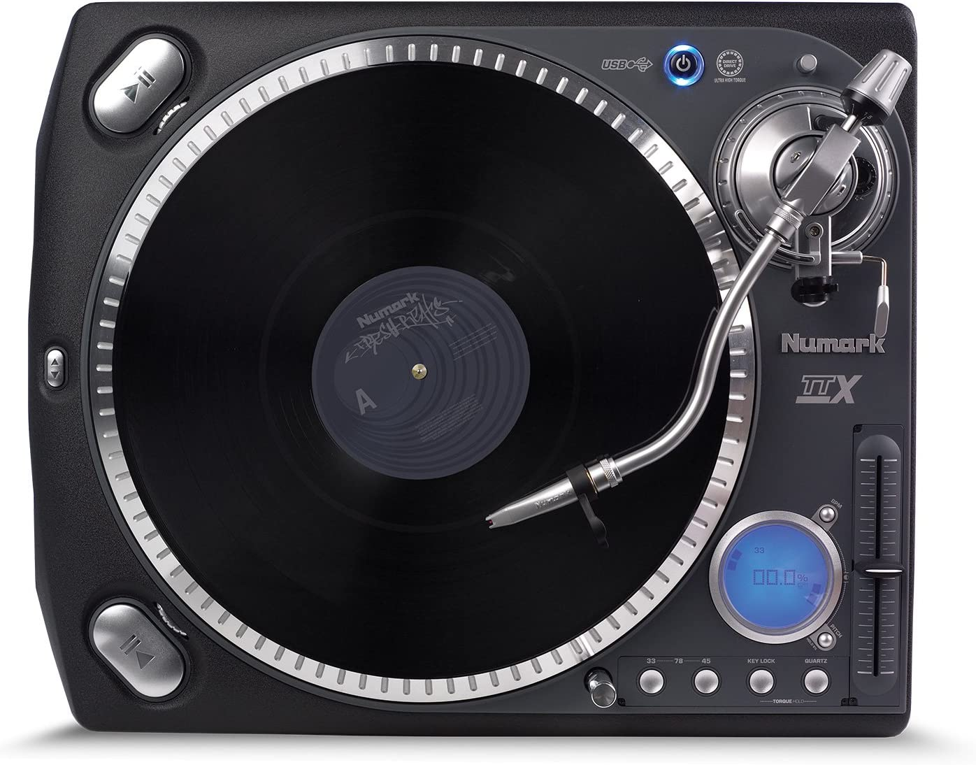Numark TTXUSB - tornamesas para dj (Accionamiento directo, -9 Db ...