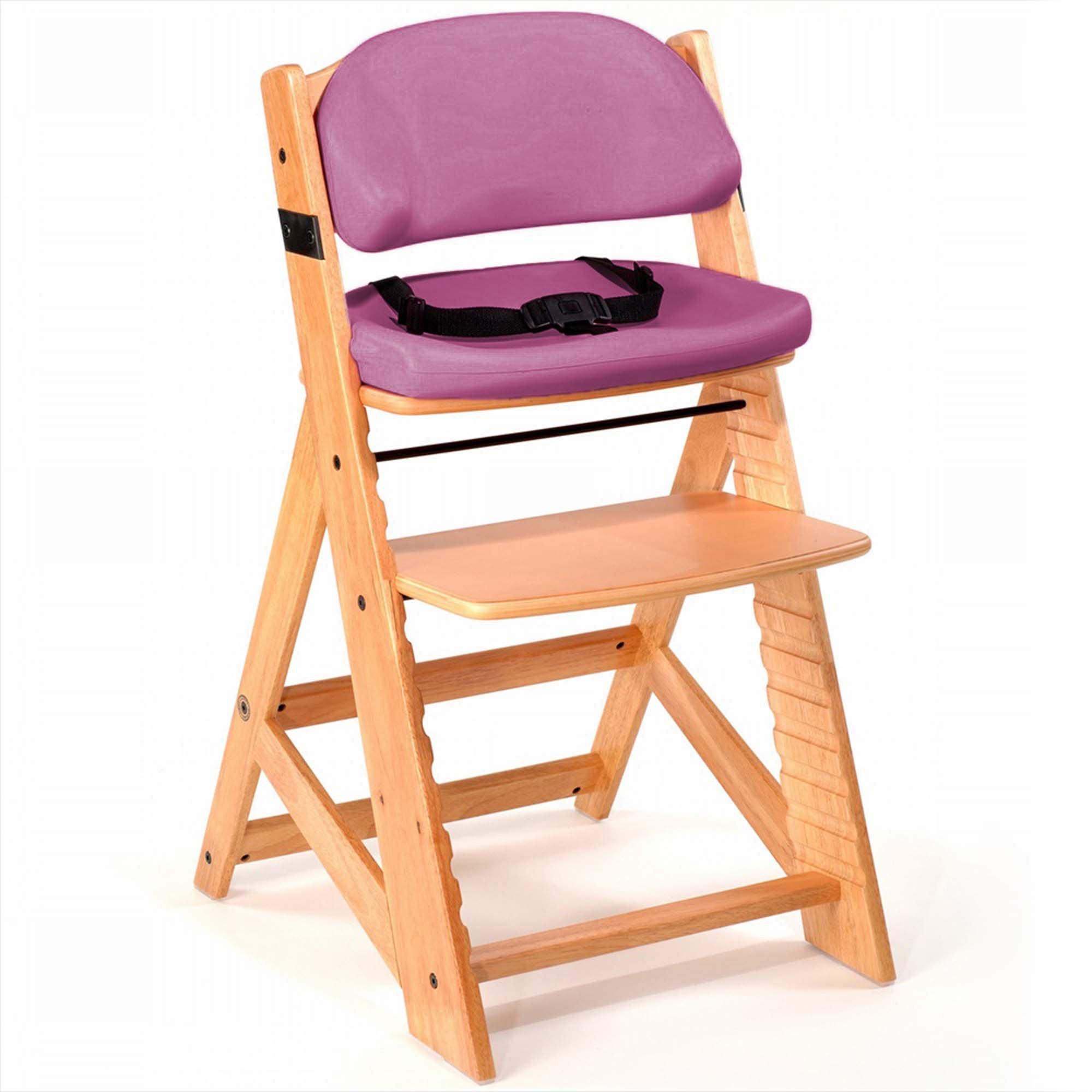 Keekaroo Height Right Kids Chair with Comfort Cushions, Raspberry
