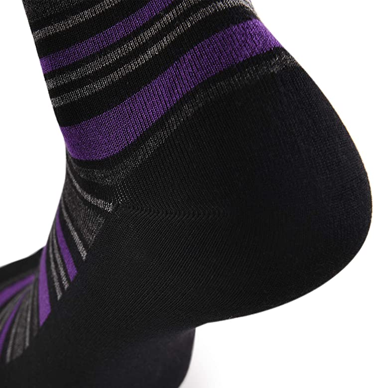 JOURNOW Women's Modal Super Smooth Skin Care Dress& Casual Socks 6 Pairs (9-11, Mix Color 4)