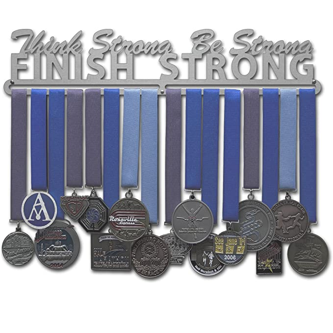 Medalla conexas - pensar fuerte percha, se fuerte, acabado fuerte ...