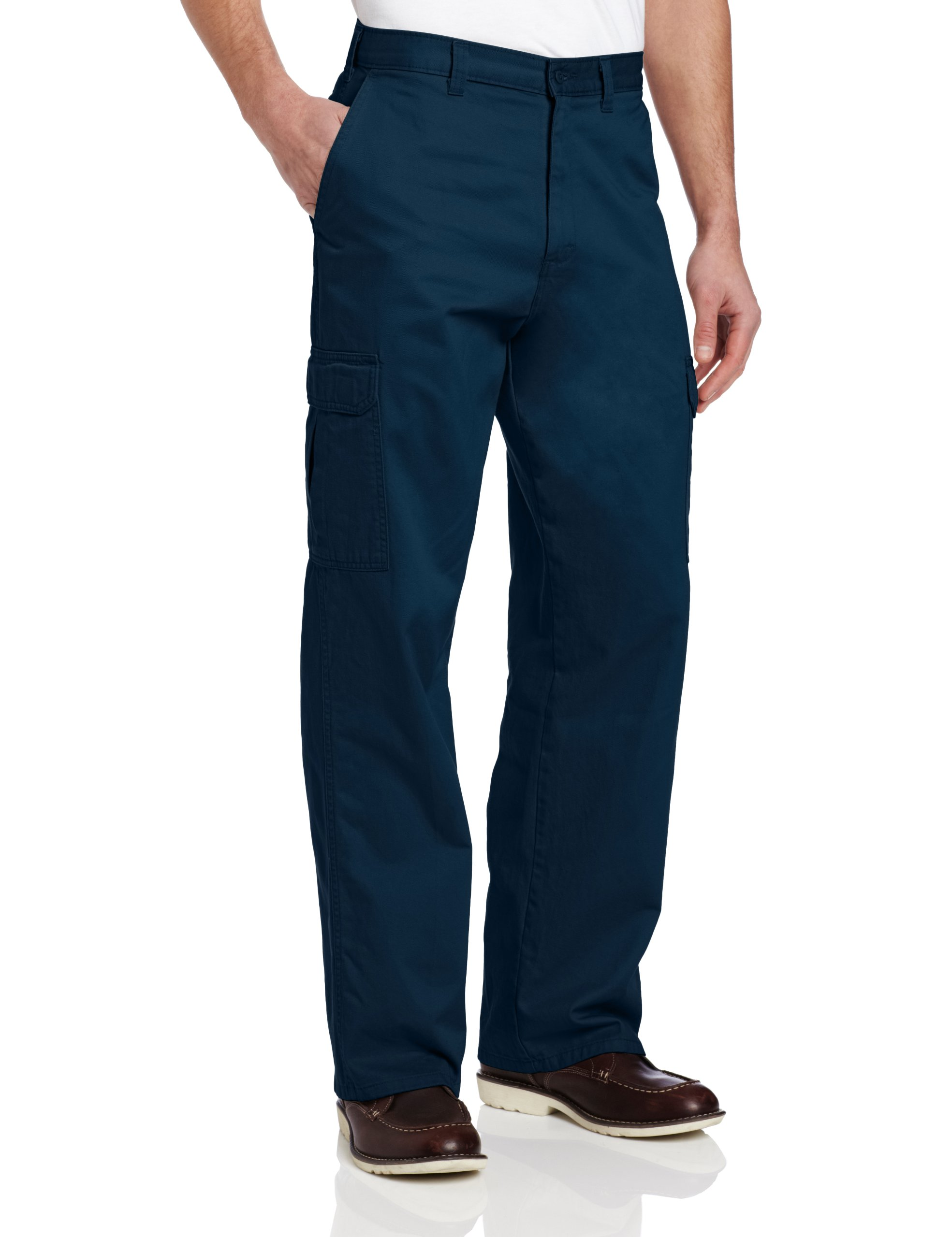 Dickies Loose Fit Cargo Pants, Rinsed Dark Navy, 46W x 30L