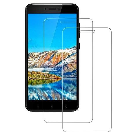 DOSNTO Cristal Templado Xiaomi Redmi 4X Protector de Pantalla, Transparente Vidrio Templado Protección de Pantalla