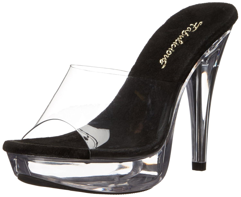 Pleaser Women's Ctail501/Cb/c Platform Sandal B00DULSYM2 6 B(M) US|Clr-blk/Clr