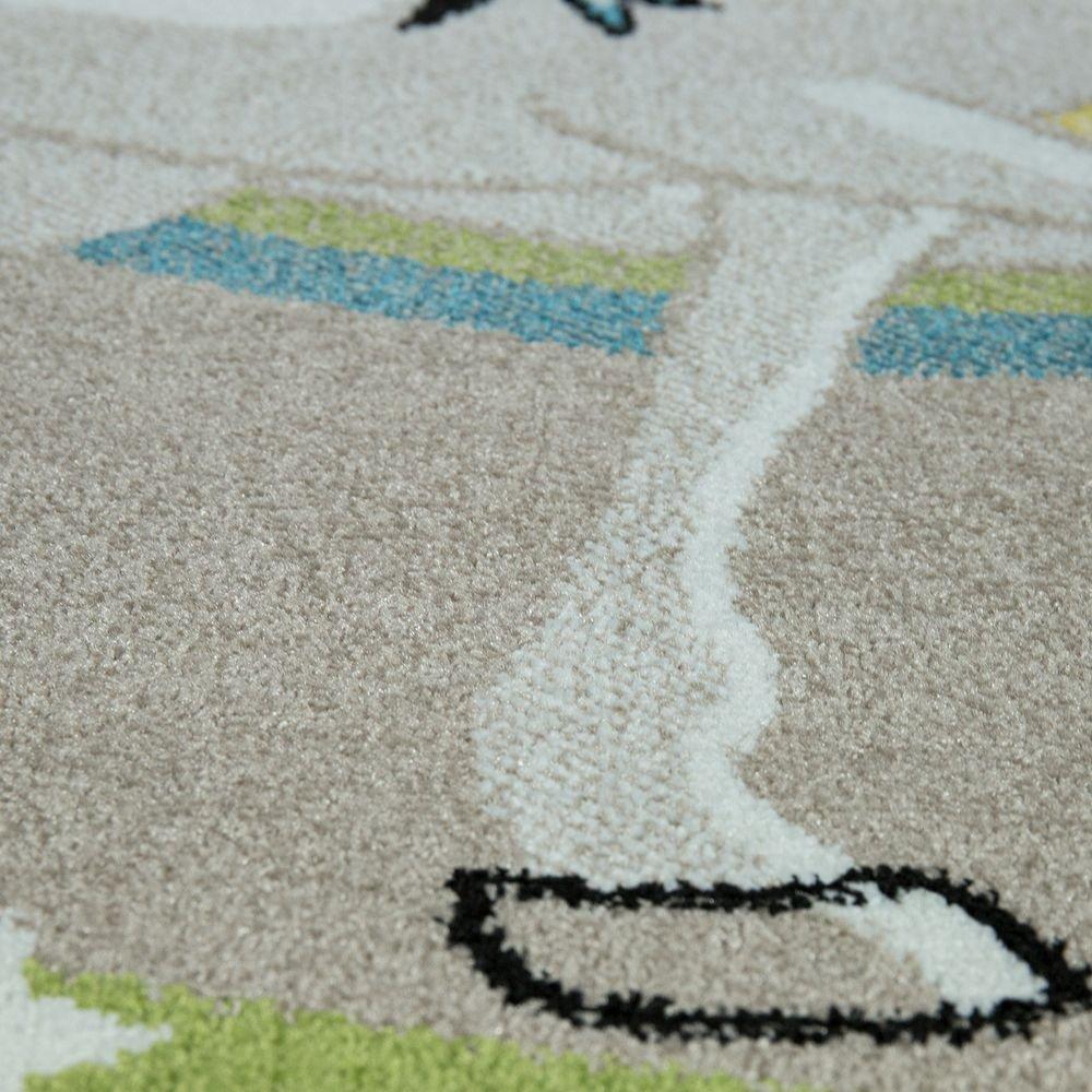 Paco Home Kinderteppich Kinderzimmer Fliegendes Einhorn Regenbogen Sterne Sterne Sterne Mädchen In Beige, Grösse 160x230 cm B077MDDNJQ Teppiche & Lufer 6c4642