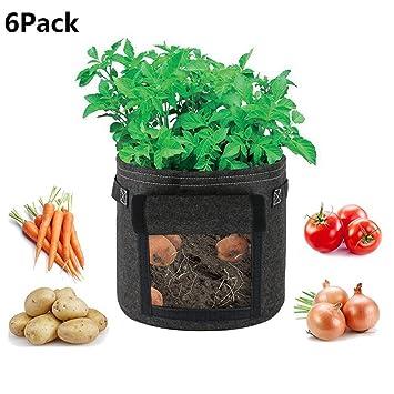 Amazon.com: ZBB bolsas de cultivo de patata, durable paquete ...