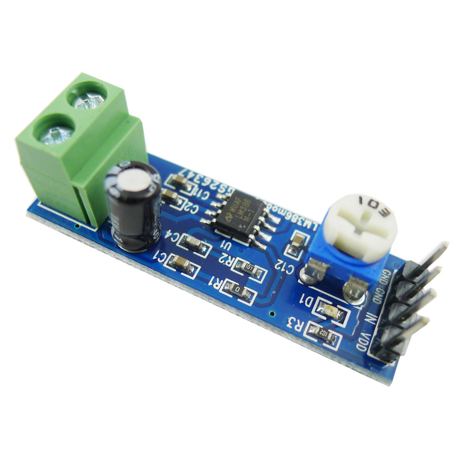 Aihasd Lm386 Audio Amplifier Module 200 Times 5v 12v Circuit With Pcb Electronics