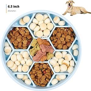 homxhandy Slow Feeder Dog Bowl, Non-Slip Silicone Puzzle Bowl, Anti-Gulping Pet Slow Feeder Dishes, Interactive Bloat Stop Dog Bowls, Anti Choking Dog Slow Feeder Bowl