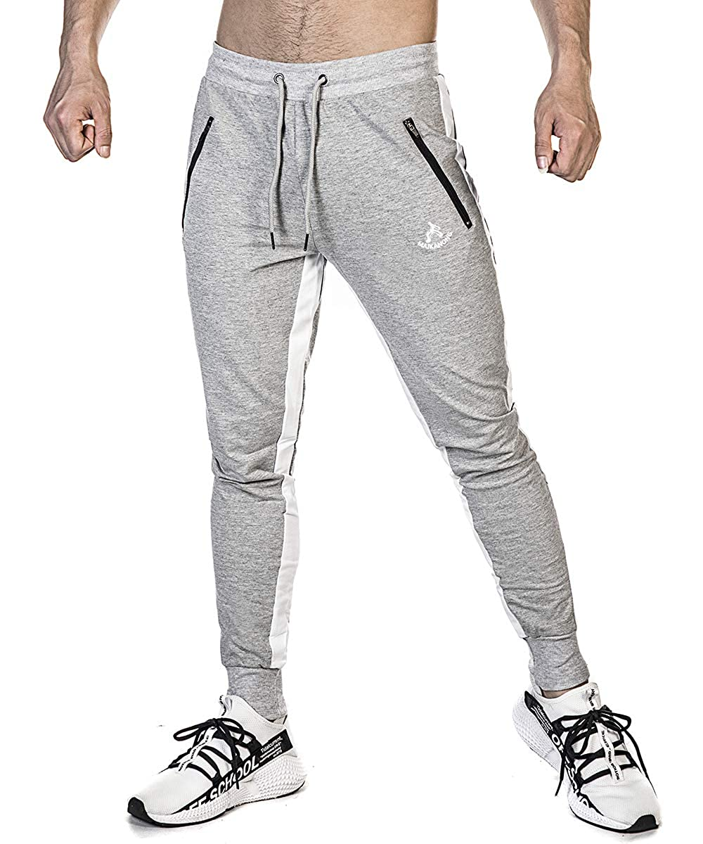 SAMZUEO Mens Lightweight Joggers Sweatpants Slim Fit Track Pants Sportswear