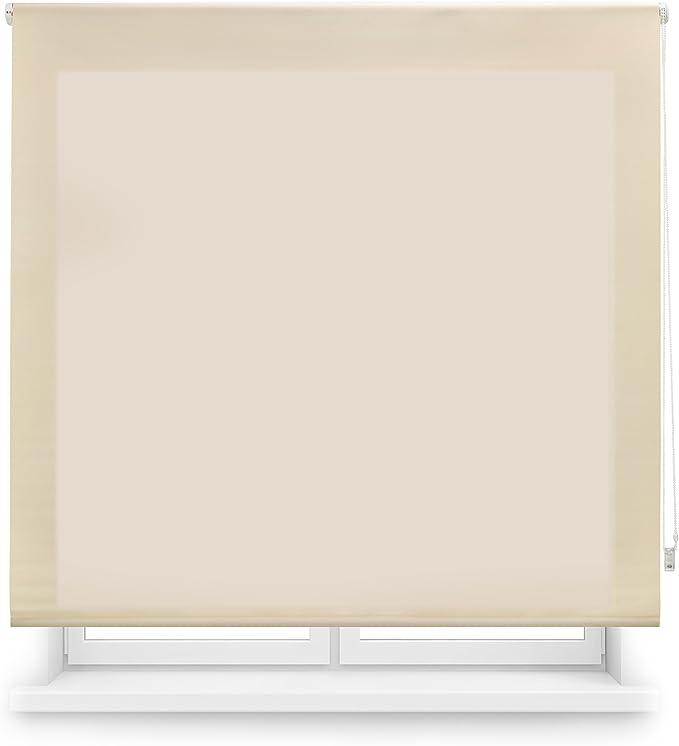 Estor enrollable translúcido liso, Beige, 160 x 175 cm