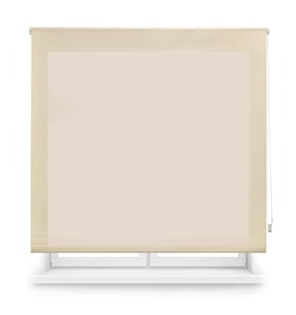 Blindecor Ara - Estor enrollable translúcido liso, 140 x 175 cm, color beige