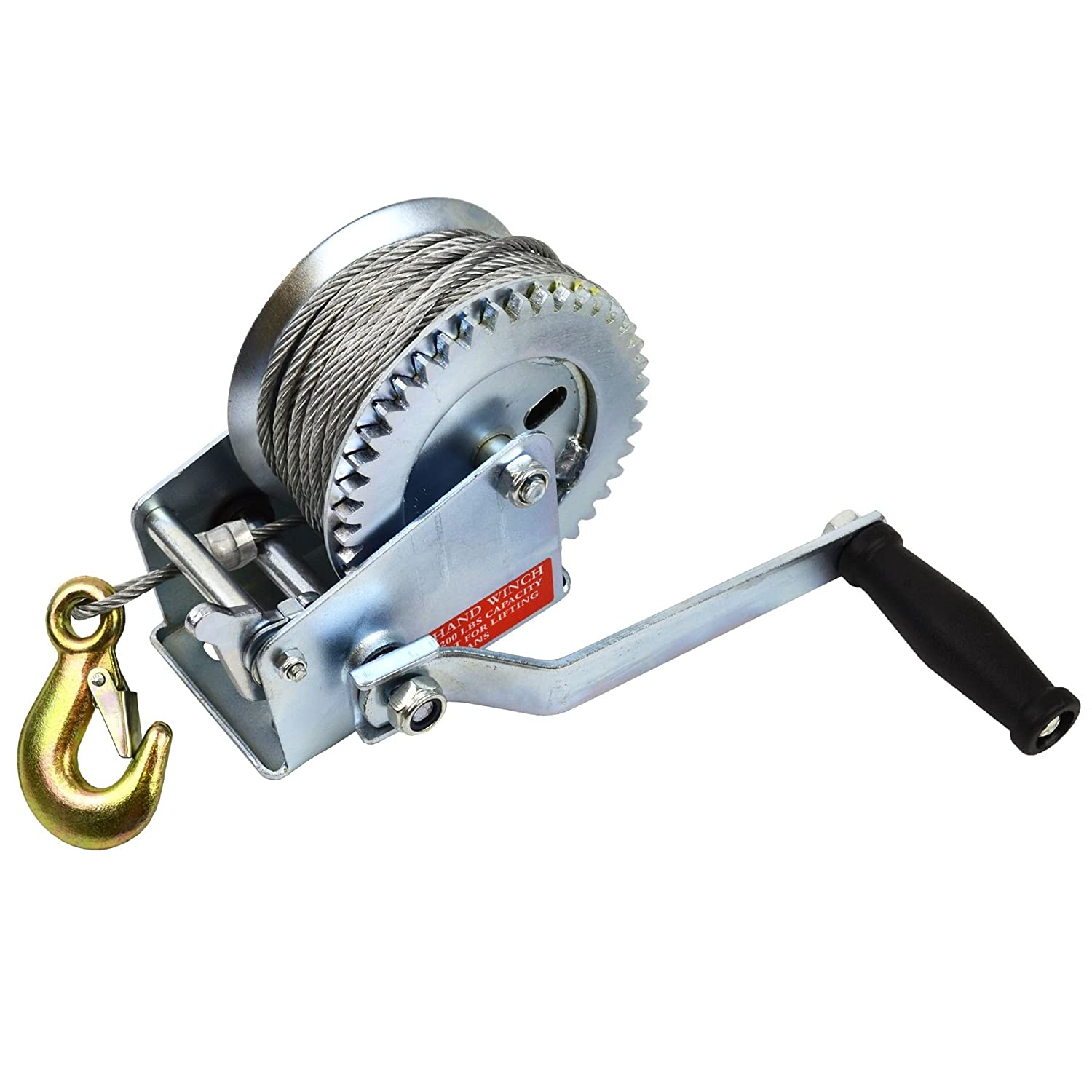 1200LB CAR BOAT HEAVY DUTY HAND WINCH /& 10M CABLE /& HOOK