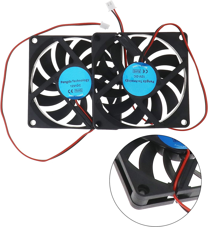 SING F LTD 2X Standard Computer Fans PC Case Cooling Cooler Fans Brushless Silent 80x80x10mm DC 12V 2Pin