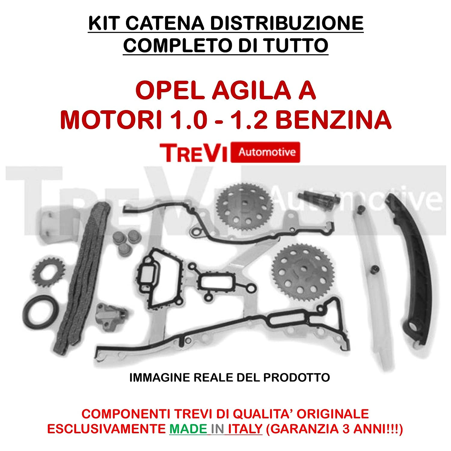 KIT CATENA DISTRIBUZIONE COMPLETO TREVI AUTOMOTIVE CODICE KC1021