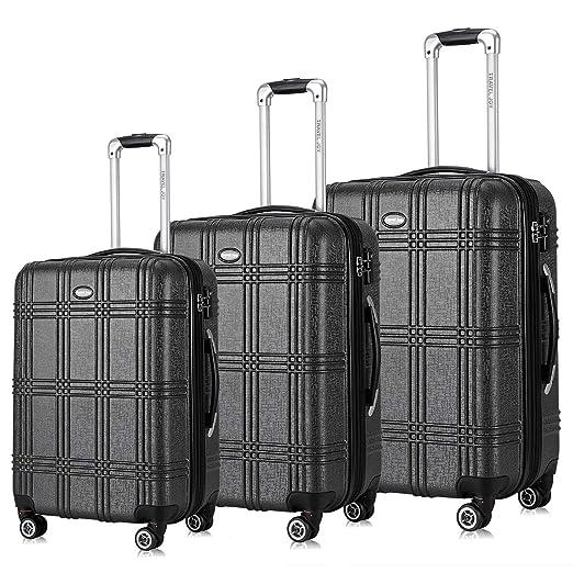 6787a169c97e Travel Joy Expandable Luggage Set, Suitcases TSA Lightweight Spinner  Hardside Luggage Sets, Carry On Luggage 3 Piece Set(20