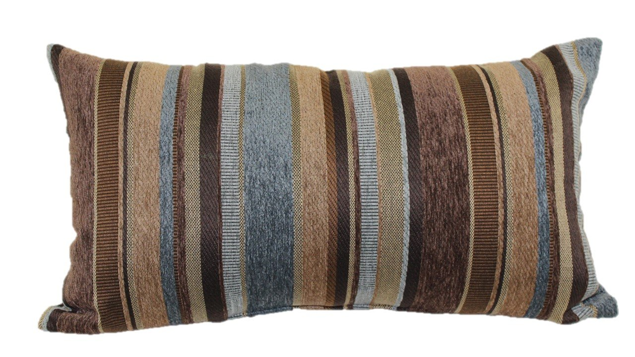 Brentwood Originals 2073 Carnival Stripe Toss Pillow, 14 by 24-Inch, Copper