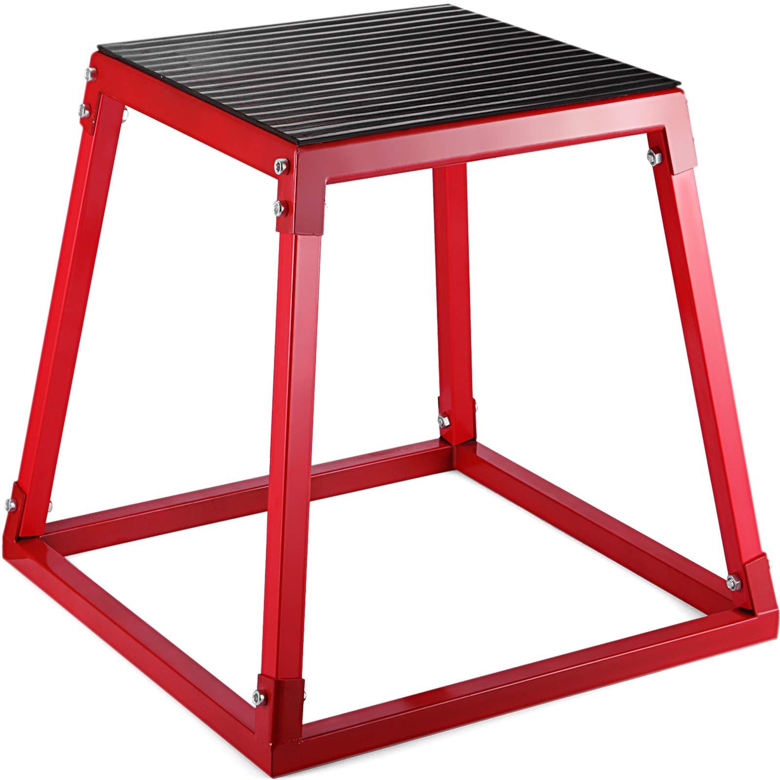 VEVOR Jumping Box 30'' Platform Jump Box Exercise Plyometric Jump Boxes for Jump Training(30'',Black)