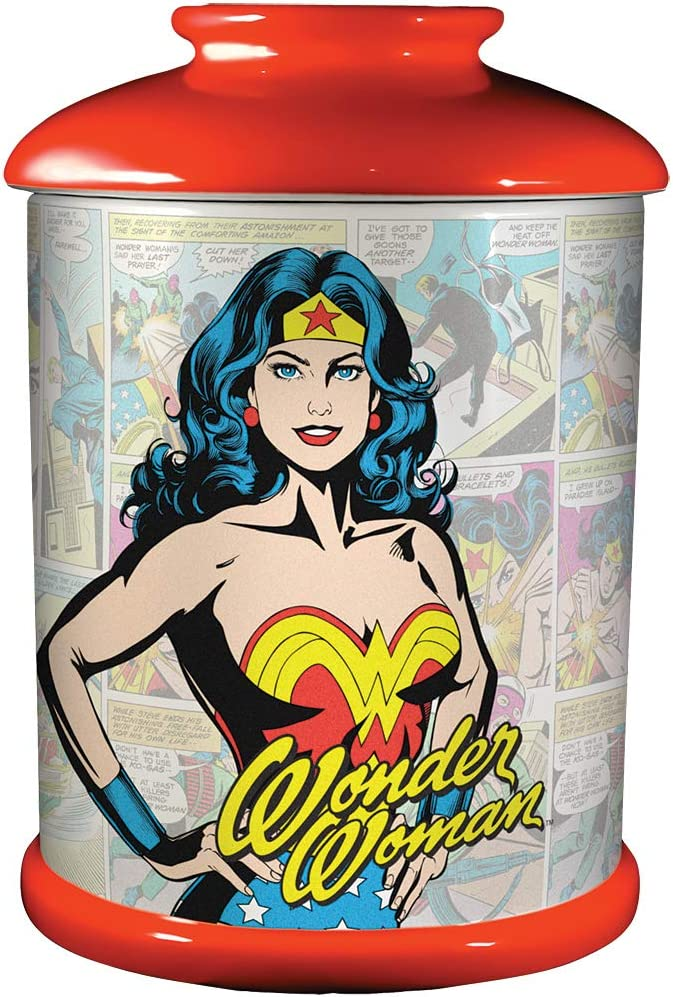 Spoontiques 21003 Wonder Woman Cookie Jar, One Size, Multicolored